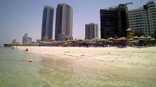 Аджман | Пляж отеля RAMADA Beach Ajman. Персидский залив. 08.08.2017