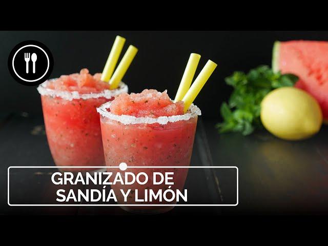 Cómo hacer granizado de sandía y limón en 15 minutos, la receta más fácil y refrescante del verano