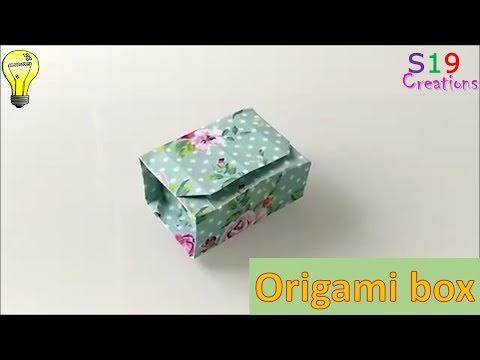 Origami Gift Box Easy Origami Box With One Sheet Of Paper Kids Paper