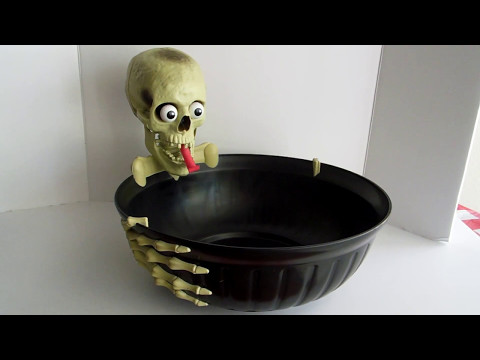 Animated Skull Skeleton Hand Candy Bowl Motion Activated ...