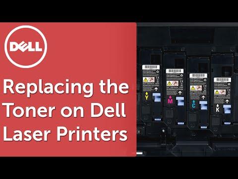 Replacing the Toner on Dell E525w Laser Printers