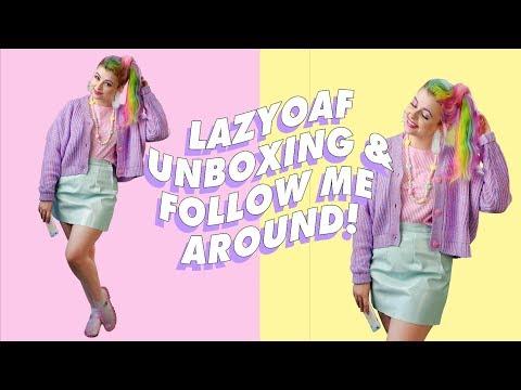 FOLLOW ME AROUND & LAZYOAF UNBOXING ♡ PIXIEVLOG 3