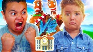 1V1 MY LITTLE BROTHER VS THE BEST PLAYER AT HIS SCHOOL!!! (TRASH TALKER) FORTNITE | MindOfRez