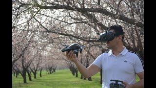 Dji FPV Drone Kayısı bahçeleri baharın güzelliği