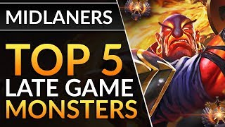 Top 5 Mid Lane Heroes Who Are MONSTERS LATE GAME   Pro Drafting Tips | Dota 2 Guide