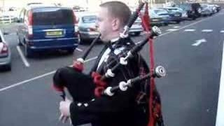 Scotland the brave bagpipe