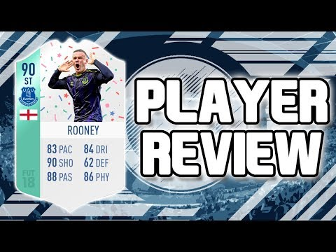 FIFA 18 - 90 RATED FUT BIRTHDAY WAYNE ROONEY PLAYER REVIEW!!! FIFA 18 ULITMATE TEAM PLAYER REVIEW!!!