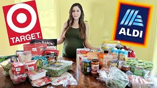 Aldi Vs. Target $50 Grocery Haul  | WHICH IS BETTER?
