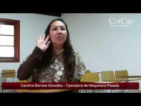 Testimonio Alumna Curso Maquinaria Pesada Instituto CorCap