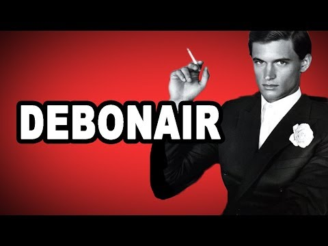 🤵 Learn English Words: DEBONAIR - Meaning, Vocabulary with Pictures and Sentence Examples