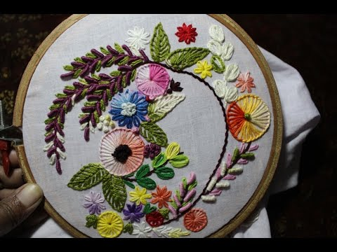 Hand Embroidery Designs | Hand embroidery stitches tutorial | Stitch and Flower-93