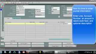 How to Enter Manual General Ledger (GL) Journal Entry - Oracle Tutorials
