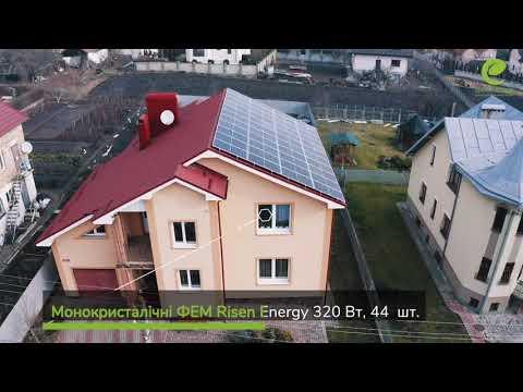 Сонячна електростанція (СЕС) / Потужність 14,08 кВт / Зелений Тариф