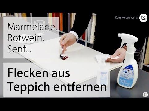 Dr. Schutz Fleck & Weg Fleckenentferner Produkttest / Marmeladen Fleck entfernen- Teppichscheune.de