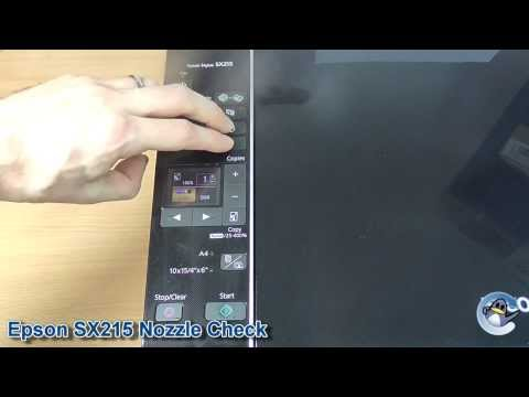 Epson Stylus SX215: How to do a Nozzle Check