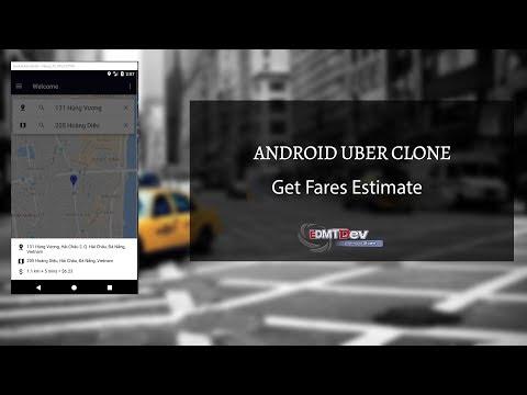 Android Uber Clone - Part 16 Get Fare Estimate