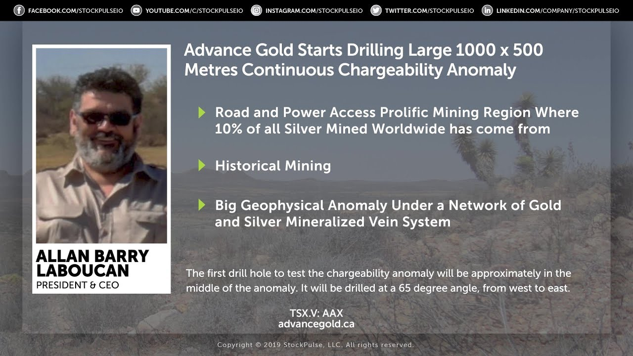 Advance Gold Starts Drilling Large 1000 x 500 Metres Continuous Charge Anomaly