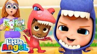 We Are Little Dinosaurs! | A Dinosaur Song | Little Angel Kids Songs