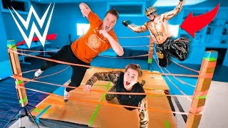 WWE BOX FORT WRESTLING MATCH! 20 Man Royal Rumble