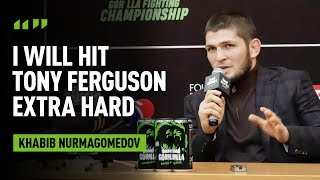 Khabib: 'I'm better than Tony physically'