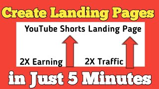 Create Landing Page For Youtube Shorts Affiliate Marketing