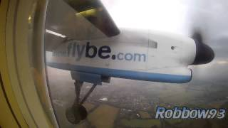 preview picture of video 'Dusk Arrival Into Southampton, Flybe Dash 8!'