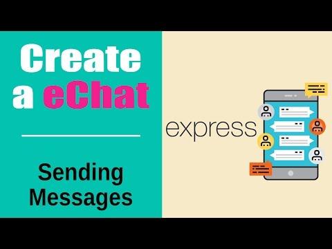 Create an eChat App | Build eChat App with Socketio | Sending Messages | Part 6