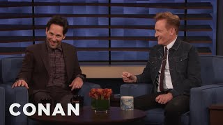 Paul Rudd Shows Conan A Clip From