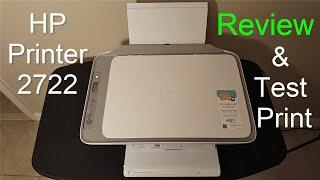 HP DeskJet 2722/2724 Printer Setup, Review & Print Test - 2020 - (Not a Unboxing Video)!