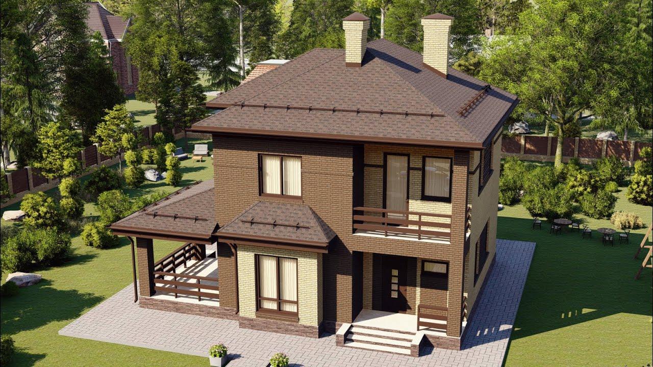 Проект двухэтажного дома из газобетона 153 м2