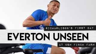 EVERTON UNSEEN #13: RICHARLISON'S FIRST DAY AT USM FINCH FARM