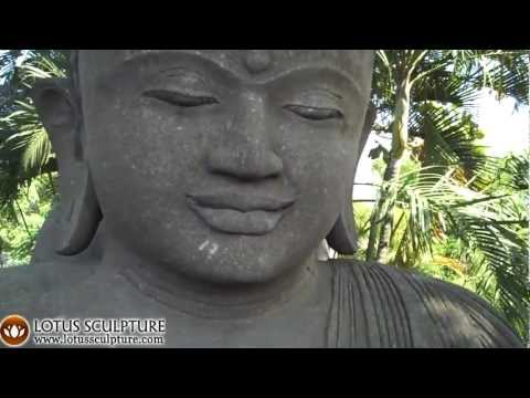SOLD Lava Stone Huge Meditating Garden Buddha 98