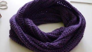 Простой снуд крючком. Crochet snood.