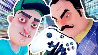 THE NEIGHBOR'S IN MY XBOX!!! (Hello Neighbour Full Game)