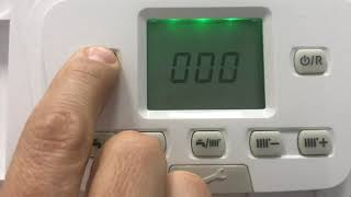 Tutorial Baxi duo tec boiler Menu use heating adjustment hot water summer winter, parameter settings