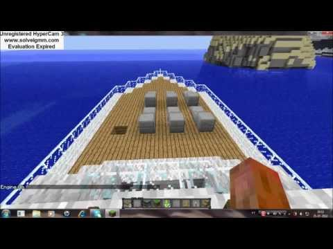 Download Barco no minecraft que anda(com mod boats and ships) Mp4 HD Video and MP3
