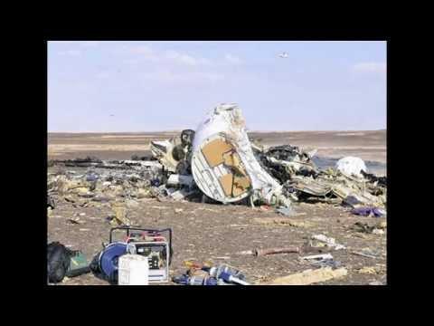 Первые кадры с места крушения Российского самолёта в Египте