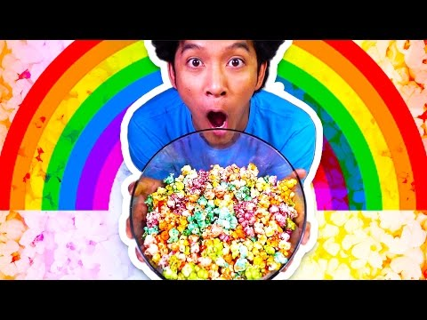 RAINBOW POPCORN IS REAL!?! HOW TO MAKE IT!