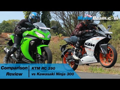 KTM RC 390 vs Kawasaki Ninja 300 - Comparison Review | MotorBeam