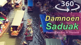 Damnoen Saduak Floating Market in Thailand VR | 360 Video