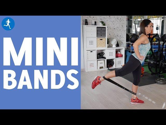 Entrenamiento de glúteos y piernas con mini-bands