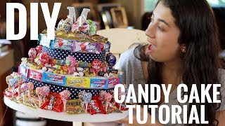 HOW TO MAKE A NO-BAKE CANDY CAKE!!! I Easiest Cake Youll Ever Make! I Zoe Alex