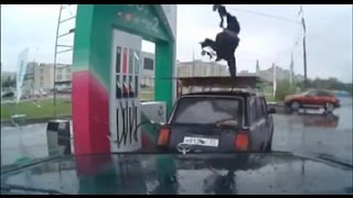 Танцор-Заправщик со сложными трюками на АЗС. (Original-EXCLUSIVE-MixedLine) Прикол-Угар. 2013