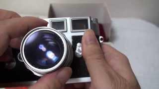 中古ライカ M3 ズミクロン-M 2,0/50mm付き チェックの様子 unboxing Leica M3
