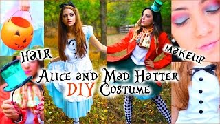 Alice And Mad Hatter DIY Costumes + Hair And Makeup!