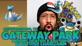 Pokemon Go Gateway Park Lapras Dratini Kabutops Blastoise
