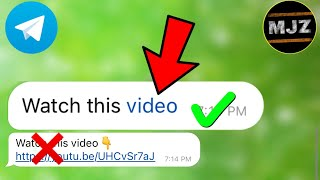 How to embed links in texts | how to add links inside a text message |Telegram