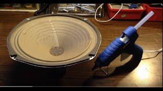Repairing a Speaker Cone Using Hot Glue