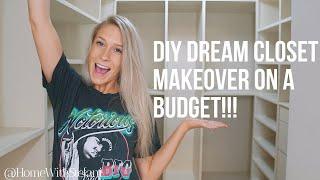 DIY Dream Closet Makeover On A Budget!!! [Part 2] | HomeWithStefani