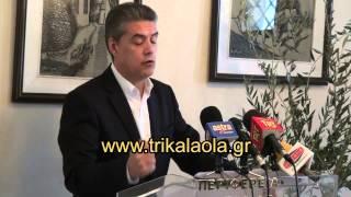 Κώστας Αγοραστός Περιφερειάρχης Θεσσαλίας έναρξη προεκλογικής περιόδου Αμπελάκια Λάρισας 18-2-14